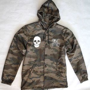 True Hands Camo Windbreaker Jacket Winter Ski